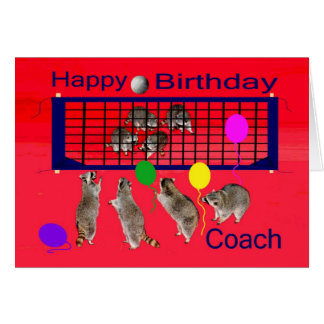 Birthday To Volleyball Coach Greeting Card