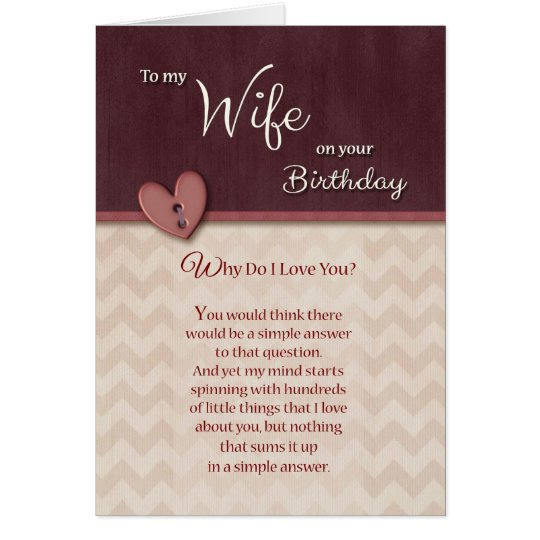 Birthday to Wife - Why Do I Love