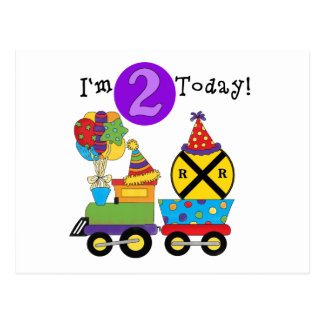 Birthday Train 2nd Birthday T-shirts and Gifts Postcard