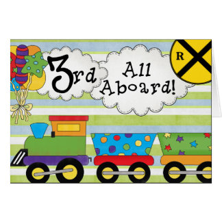 Birthday Train 3rd Birthday Invitations