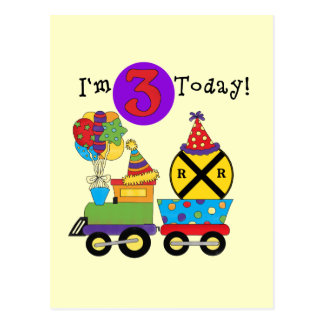 Birthday Train 3rd Birthday Tshirts and Gifts Postcard