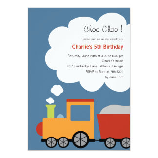 Birthday Train Party Invitation Custom Invitations