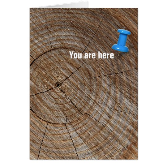 Birthday tree rings with tack card