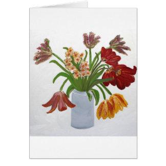 Birthday Tulips Note Card