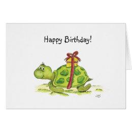 Happy birthday turtle cards invitations zazzle birthday turtle card bookmarktalkfo Images