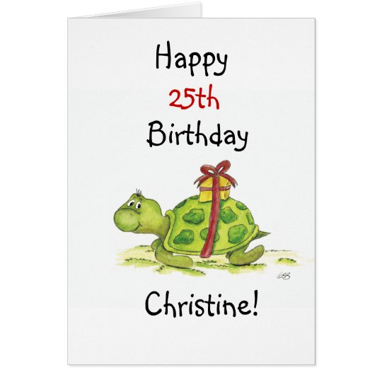 Birthday Turtle - Customise the age and name