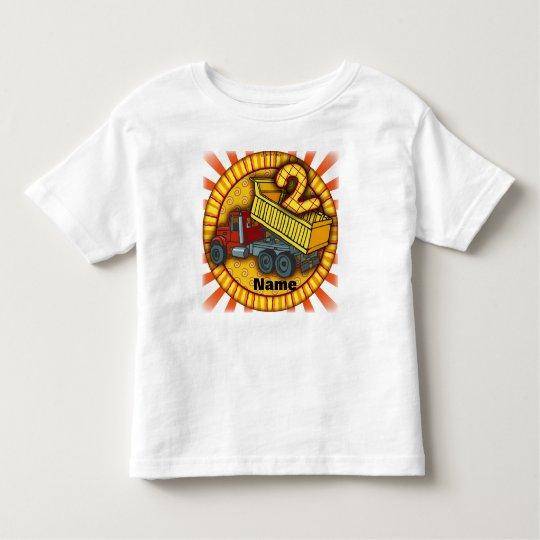 Birthday two Dump Truck Toddler T-Shirt