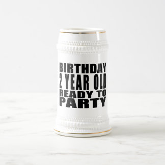 Birthday Two Year Old Ready to Party Mugs