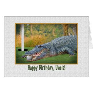 Birthday, Uncle, Golf, Alligator Card