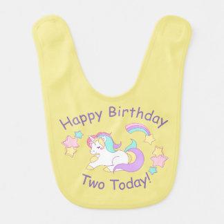 Birthday Unicorn Baby Bib