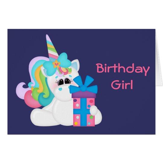 Birthday Unicorn (customisable) Card