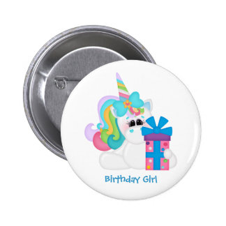 Birthday Unicorn (customizable) 6 Cm Round Badge