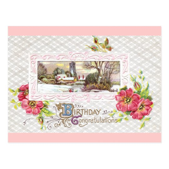 Birthday Vignette Postcard