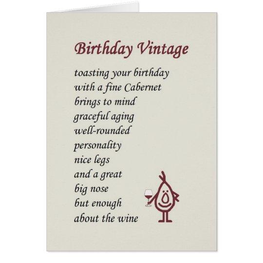 A Funny 50th Birthday Poem Card