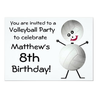 Birthday Volleyball Party Invitation