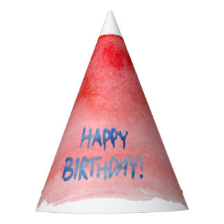 Birthday Watercolor Hat