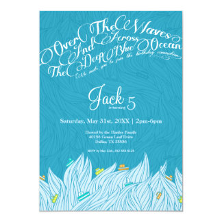 Birthday Waves Invitation