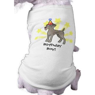 Birthday Weimaraner Sleeveless Dog Shirt