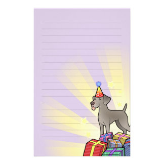 Birthday Weimaraner Stationery
