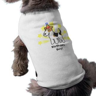 Birthday Wire Fox Terrier Sleeveless Dog Shirt