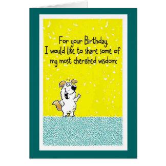 Birthday Wisdom Greeting Card