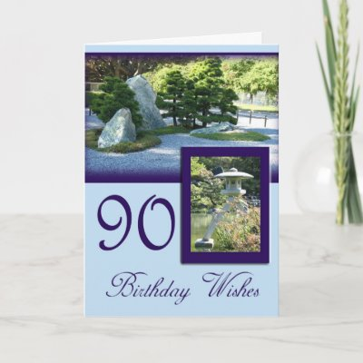 Birthday Wishes 90th Birthday Greeting Card by MarionsC