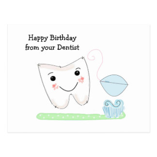 Birthday Wishes from the Dentist Postcard