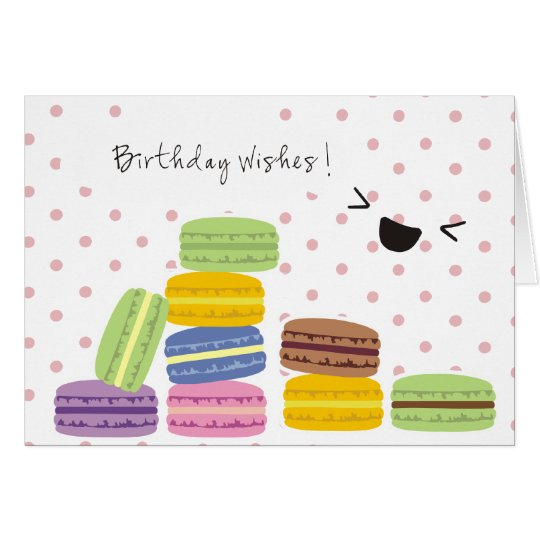 Birthday Wishes - Macaroons Design Card