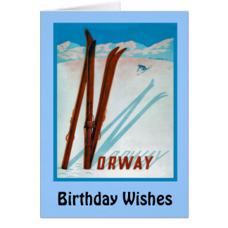 Birthday Wishes, Norway Card