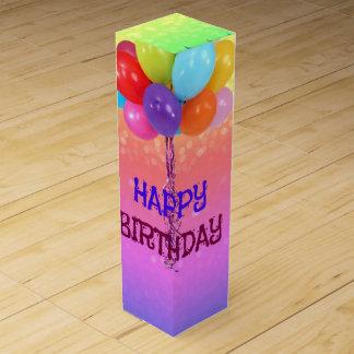 Birthday Wishes, Rainbow Colors Wine Box