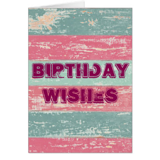 Birthday Wishes Rustic Fence Greeting Card