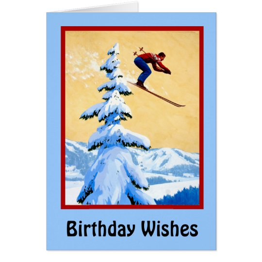 Birthday Wishes, Ski jumping Card