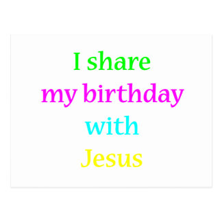 Birthday With Jesus Postcard