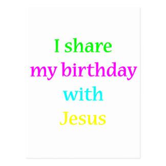 Birthday With Jesus Postcard