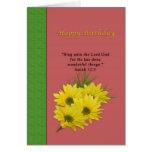 Birthday, Yellow Daisies, Religious