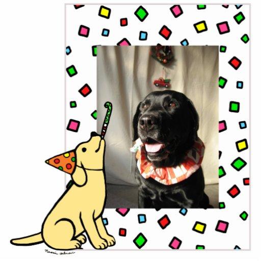 Birthday Yellow Labrador Cartoon Photo Frame Photo Cut Outs