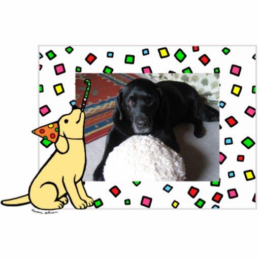Birthday Yellow Labrador Cartoon Photo Frame Photo Cutout