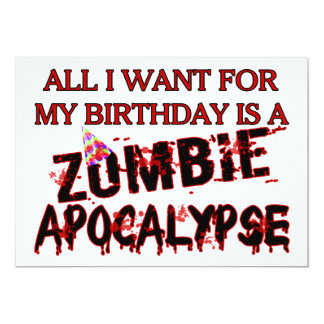 Birthday Zombie Apocalypse Card