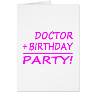 BIRTHDAYMATHS+Doctor+PINK+PROD.png Greeting Card