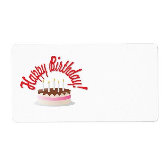 Birthday's cake shipping label