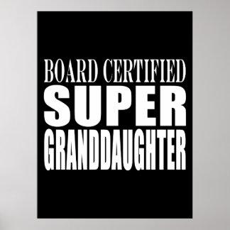 Birthdays Christmas Parties : Super Granddaughter Posters