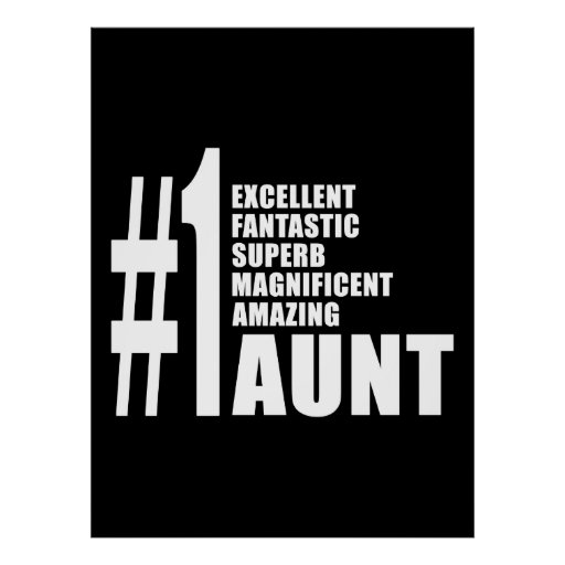 Birthdays Parties Christmas : Number One Aunt Posters