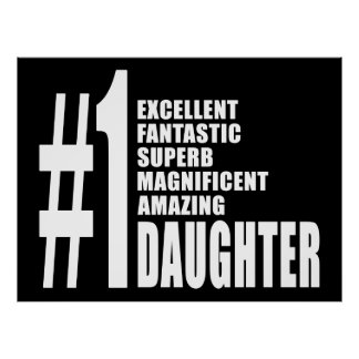 Birthdays Parties Christmas Number One Daughter Poster