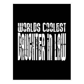 Birthdays Parties Worlds Coolest Daughter in Law Postcard