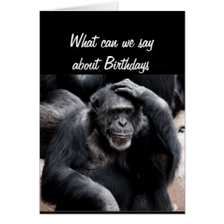 Birthday's Suck Funny Greeting with Gorilla Animal Card