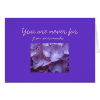 Birthmother in purple greeting card