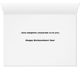 Birthmothers' Day card