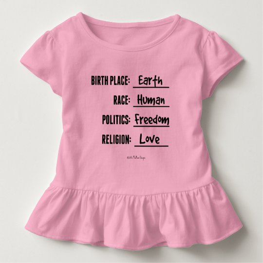 Birthplace Earth Toddler Ruffle Tee