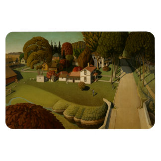"""Birthplace of Herbert Hoover"" Grant Wood Magnet Magnets"