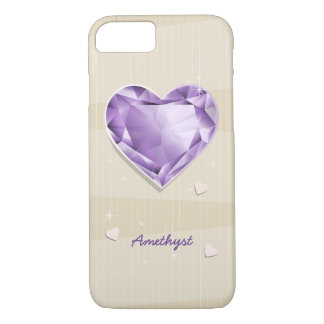 Birthstones February Amethyst Purple/lilac Heart iPhone 8/7 Case
